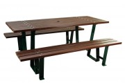 Table de pique-nique en composite - Dimensions (mm) : 2000 x 820 x 770