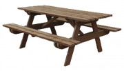 Table de pique-nique en plastique recyclé - Longeur : 180 cm - Largeur : 145 cm - Hauteur : 100 cm