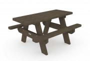Table de pique-nique enfant - Encombrement (L. x l. x H.) : 1200 x 960 x 605 mm - A sceller
