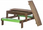 Table de pique nique pour crèche - Dimensions total: 123 x 86 x 52 cm