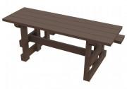 Table de pique nique pour handicapés en plastique recyclé - Dimensions (Lx H) cm : 180 x 101