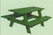Table de plein air avec 2 bancs - TAble ARBOIS - Réf TA02