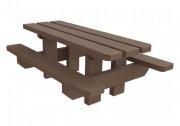 Table de plein air pour enfants en plastique recyclé - Dimensions Lx H (cm) : 120 x 103