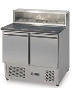 Table de préparation à pizza - 2 ou 3 portes - Capacité (L): 300 ou 380
