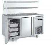 Table de préparation réfrigérée 2 ou 3 portes - Dimension (L x P x H) mm : Jusqu'à 1795 x 700 x 850