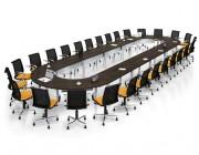 Table de réunion en bois massif - Carrée