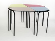 Table de réunion modulable - Hauteur totale de la table (mm) : 76