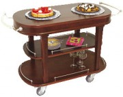 Table de service en bois 3 plateaux - Dimensions (L x P x H) 1200 x 560 x 820 mm