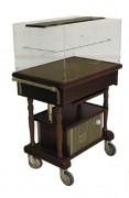 Table de service réfrigérée roulante - Dimensions (L x l x H) : 900 x 525 x 1220 mm