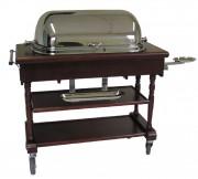 Table de service restauration roulante - Dimensions : 825 x 525 x 1420mm