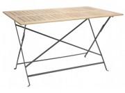 Table de terrasse en bois pour restaurant - Structure métallique
