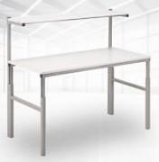 Table de travail avec tablette stratifiée - Dimensions (L x P) mm : De 1200 x 700 à 1800 x 900
