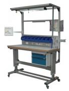 Table de travail industrielle à tiroir