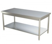 Table de travail inox à étagères multiples - Idéale pour les espaces restreints