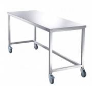 Table de tri du linge - Dimensions : 2000 x 700 x 910 mm / Inox poli 18/10