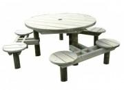 Table design bois pour enfants - 6 assises
