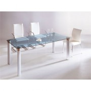 Table design en verre transparent