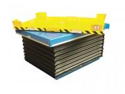 Table elevatrice à plateau tournant - Charge de 200 à 2000 kg - Pattes fixation sol