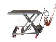 Table élévatrice de manutention sur roues - Table élévatrice à ciseaux  - Avec roues
