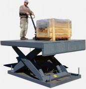 Table élévatrice de quai Plateau en tôle lisse - Hauteur d'élévation : de 800 à 1600 mm