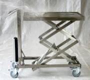 Table élévatrice électrique inox - Capacité de charge (kg) : jusqu'à 100