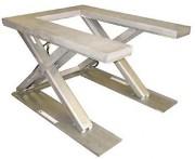 Table élévatrice extra plate inox - Capacité (kg) : 1000