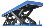 Table élévatrice hydraulique à double ciseaux - Capacité (Kg) : de 1000 à 8000