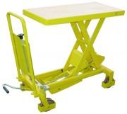 Table élévatrice hydraulique manuelle - Capacité de 150 kg - dimensions base (L X l) 70 x 45 cm
