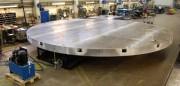 Table élévatrice hydraulique rotative - Capacité de charge : 7 000 kg