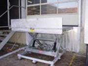Table élévatrice industrielle galvanisée à chaud - Lever jusqu'à 100 mm