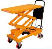 Table élévatrice manuelle à ciseaux - Simple ou double ciseaux - Capacité: de 150 à 1000 Kg