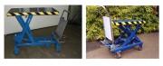 Table élévatrice manuelle mobile - Capacité : de 150 à 850 Kg - À pompe hydraulique  à commande à pied