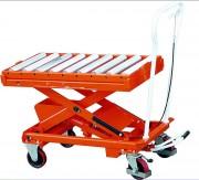 Table élévatrice mobile à rouleaux - Capacité de charge : 500 Kg