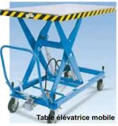 Table élévatrice mobile sur mesure - Conception très robuste