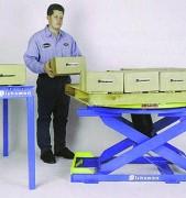 Table élevatrice pneumatique - Capacité de charge : 1800 kg