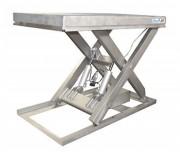 Table élévatrice simple ciseaux inox - Capacité (kg) : 500 - 1000 - 1500 et 2000