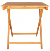 Table en bois pliable - Dimensions: 50 x 70 x 75 cm