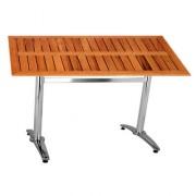 Table en bois pour terrasse - Plateau 120x70 cm