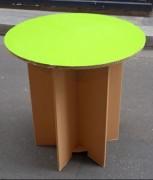 Table en carton - Monté : 75.00 x 75.00 x 75.00 cm