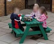Table enfant pique-nique - Capacité (enfants) : 4 - Plastique 100% recyclé