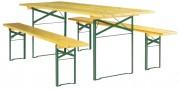 Table et banc pour terrasse - L 200 - 220 x l 25 - 60 - 70 - 80 cm