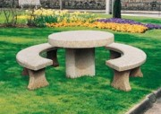 Table extérieur en pierre - Table ronde diam. 120 cm