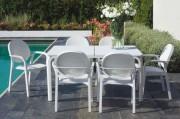 Table hôtel extérieure RIO - Usage :extérieur - Matière: aluminium - Dimensions L x l x h : 210/280 x 100 x 76 cm
