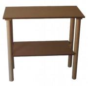 Table guéridon d'hôtel en bois - Dimensions : (L x l x H) : 600 x 400 x 750 mm