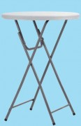 Table haute polyéthylène - Structure acier - Plateau en polyéthylène