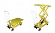 Table hydraulique double ciseaux - Capacité de charge : 300 ou 800 kg