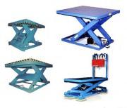 Table industrielle élévatrice - Simples ciseaux - Doubles ciseaux verticaux ou horizontaux