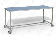 Table inox de travail - Capacité de charge du plateau : 100 kg