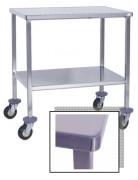 Table inox pour instruments médicaux - Dimensions (mm) : De 600 x 400 à 1200 x 600