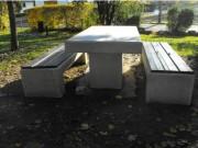 Table jardin beton - Pour jardins publics ou privés, parcs, espaces verts...